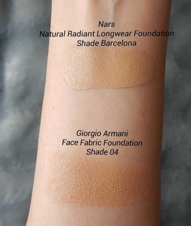 �ล�าร���หารู��า�สำหรั� Giorgio Armani Face Fabric Foundation